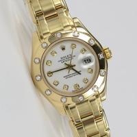 Rolex Datejust Pearlmaster Original Diamant-Besatz 80318