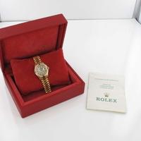 Rolex Lady Datejust 26 Ruby Factory Diamantbesatz 69068