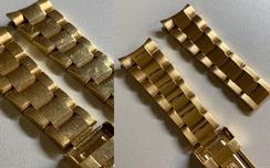 Politur eines Rolex Armbands (Vorher/Nachher)