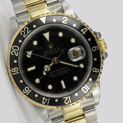 Rolex GMT-Master II Stahl / Gold 16713