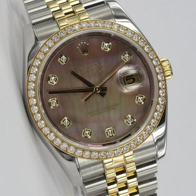 Rolex Datejust 36 Factory Original Diamant-Besatz MOP 116243