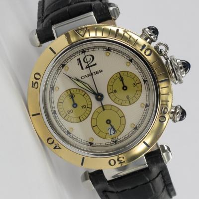 Cartier Pasha Chronograph Stahl / Gold 1032