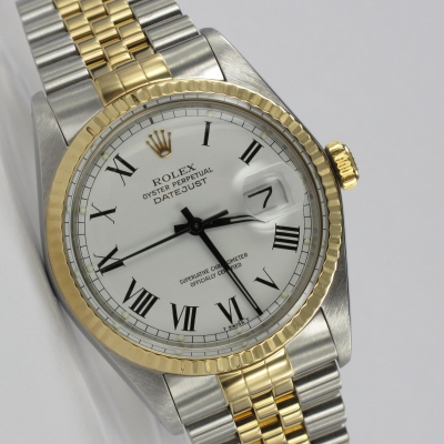 Rolex Datejust 36mm Buckley Stahl / Gold 16013