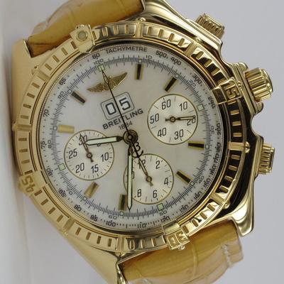 Breitling Crosswind Special 18K Gold Perlmutt K44355