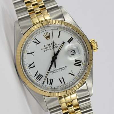 Rolex Datejust 36mm Buckley Stahl / Gold 16013 Full Set