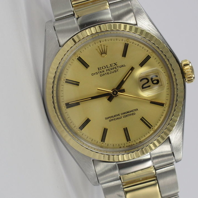 Rolex Datejust 36mm Stahl / Gold 1601