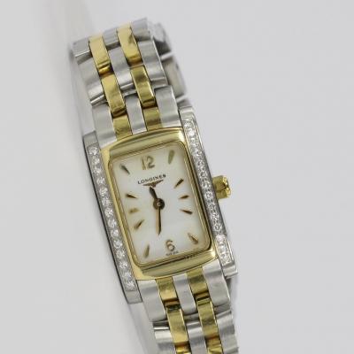 Longines DolceVita Stahl / Gold Original Diamantbesatz
