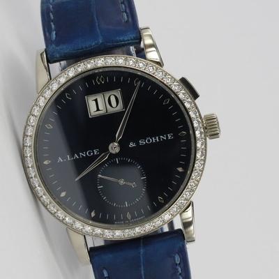 A. Lange & Söhne Saxonia Original Diamant-Besatz Weißgold 803.027
