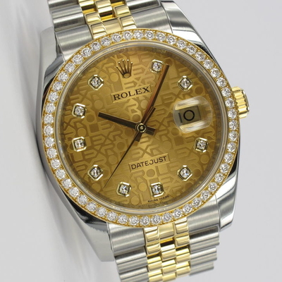 Rolex Datejust 36 Factory Original Diamant-Besatz 116243