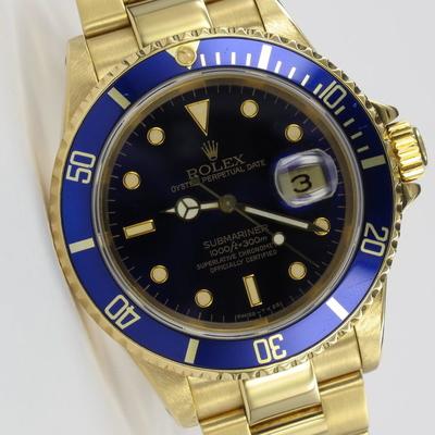 Rolex Submariner Date 18K Gold Purple 16618