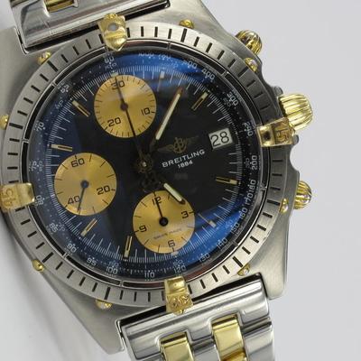 Breitling Chronomat Pilot Stahl / Gold B13047
