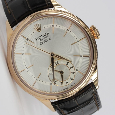 Rolex Cellini Dual Time 18K Rosegold