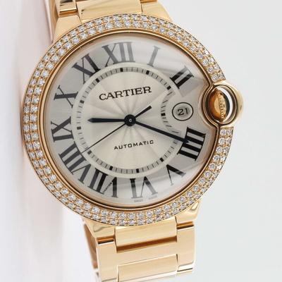 Cartier Ballon Bleu 42mm Factory Diamant-Besatz Roségold WE9008Z3