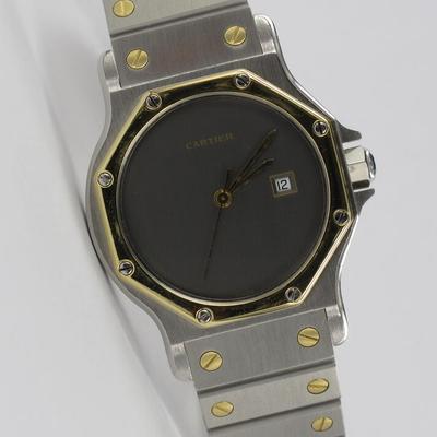 Cartier Santos Octagon 30mm Stahl / Gold