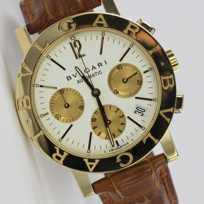 Bulgari Chrono Ø 38mm 18K Gold BB 38 GL CH