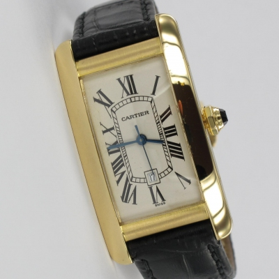 Cartier Tank Americaine 18K Gold