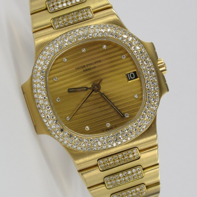 Patek Philippe Nautilus Original Diamantbesatz 3800/5