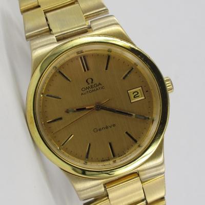Omega Geneve Date Automatic Vergoldet Kaliber 1012