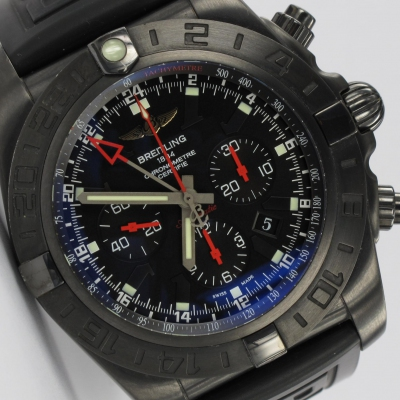 Breitling Chronomat 44 GMT Blacksteel Limited Edition MB0413