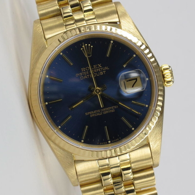 Rolex Datejust 36mm 18K Gold 16018