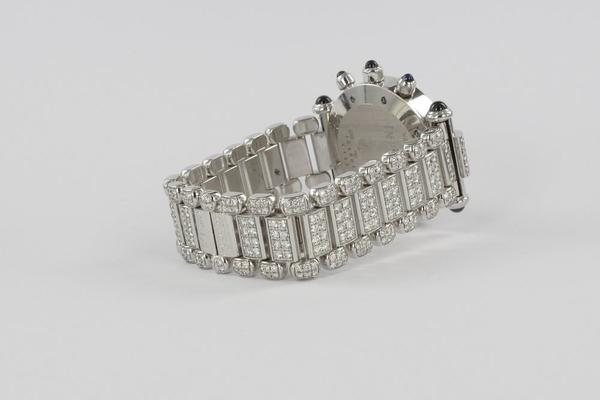 Chopard Imeriale Chronograph 18K Weißgold Original Diamant-Besatz