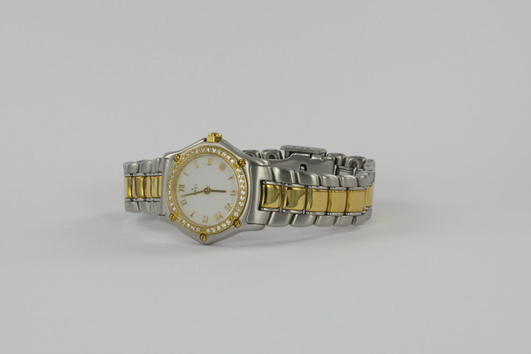 Ebel 1911 Classique Damen Stahl / Gold Diamant-Besatz